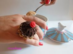 Anello torta all'uncinetto. Crochet cake ring