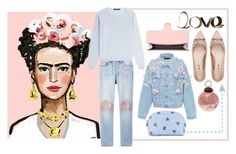 """Pink + Blue"" by cherieaustin ❤ liked on Polyvore featuring Bliss and Mischief, IRIS VON ARNIM, Anouki, Miu Miu, Gucci and PBteen"