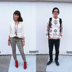 couples style. http://lookbook.nu/look/5116176-The-Mysterious-Rack-Vintage-Cardigan-Free-People