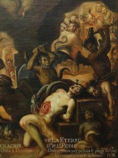 Anonymous artist, Las Penas del Infierno (Penances of Hell), XVIIIth century.