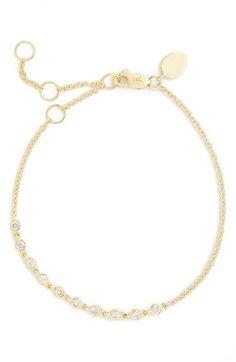 MeiraT Diamond Bracelet at Nordstrom.com. Glistening bezel-set diamonds line up along a delicate 14-karat yellow gold bracelet.