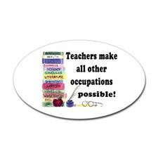 """Teacher Occupations"" Oval Decal"