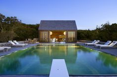 modern pool house - Google Search