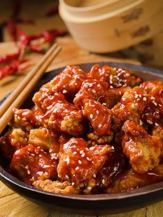 Poulet à la sauce aigre-douce (Chine) Slow Cooker Recipes, Crockpot Recipes, Cooking Recipes, Healthy Recipes, Sauce Recipes, Chicken Recipes, Chines Food Recipe, Best Chinese Food, Barbecue Sauce