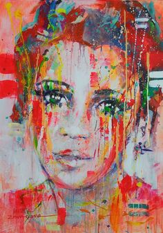 :))) I wanted to capture the fragility..... Painting is a way to show the wonder of various aspects of existence, experiencing joy every day, discovering love and pleasure. In my works I try to dress up emotions in beautiful and harmonious forms, to show the depth of everyday life. My goal is to give life to colors and shapes. PAINTING (ready to hang on the wall- sides painted) MATERIALS: acrylic, ink, oil, spray on canvas I use only top quality paint and varnish protective. Painting sig...