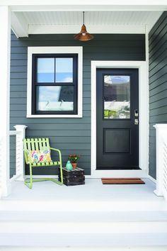 Ideas Exterior House Siding Colors Vinyls Window Trims For 2019 Best Exterior Paint, Exterior Paint Colors For House, Paint Colors For Home, Exterior Colors, Paint Colours, Siding Colors For Houses, Exterior Siding, Exterior Design, Black Windows Exterior