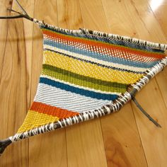 Something for the little ones:: old yarn? branches? :: fun for hours :: Branch Weaving
