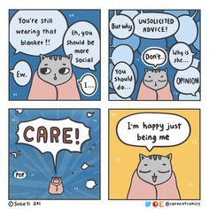 Being Me Comic 8, New Actors, Cat Comics, A Husky, Touching Stories, Quiz, Cat Sleeping, Cat Costumes, Human Emotions
