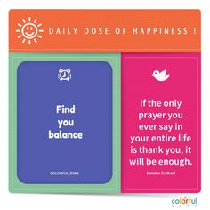 Color up your day with happy details, here is the help for you, life is all about balance. Positive Mindset, Positive Vibes, Mindfulness Quotes, Growth Mindset, Self Development, Happy Quotes, Happy Life, Self Love, Quote Of The Day