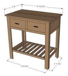 Ana White | Build a Shirley Console Table | Free and Easy DIY Project and Furniture Plans