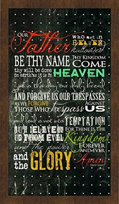 New View The Lord's Prayer Peg Board 24x14 inches (01-HV-13050)