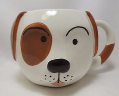 Your children would love a bowl of cereal in this cute mug. How much fun is it to drink and eat from a dog!   eBay!