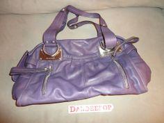 B. Makowsky designer Soft Plum Leather Handbag Womens find me at www.dandeepop.com