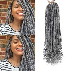 20Inch Senegalese Twist Crochet Hair Braids Wavy Ends Synthetic Hair Extension Kanekalon Curly End Crochet Small Mamb... Curly Clip Ins, Human Hair Clip Ins, Halo Hair Extensions, Synthetic Hair Extensions, Twist Hairstyles, Ponytail Hairstyles, How To Make Braids, Senegalese Twist Crochet Braids, Spring Twist Hair