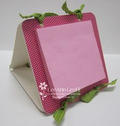 Coasters - calendars on one side and post it notes on other side.