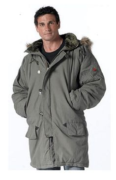 Mens Military Style Winter Parka