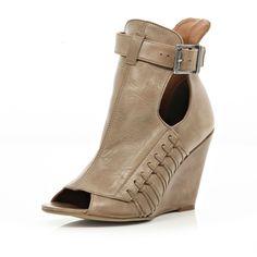 Riverisland - Beight Open Toe High Vamp Wedge Boots