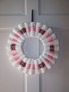 Diaper Wreath for Baby Girl