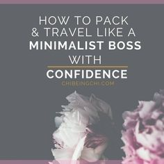 Tips to pack and travel like a minimalist boss with confidence. Want to start the minimalist lifestyle but don't know how? Join the community for weekly tips. Start with these intro to minimalism Ebooklets today: eepurl.com/clK9nj