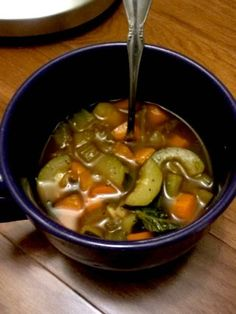 Zero Weight Watchers Points Plus Veggie Soup.  My sister Chrissy made this and its Delish!