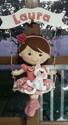 Doll felt patterns - Como Fazer #Doll #felt #patterns #free #pdf #download #art #crafts #diy #handmade #Princess #decor #party