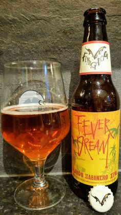 Flying Dog Fever Dream Mango Habanero IPA. Watch the video beer review here www.youtube.com/realaleguide #CraftBeer #RealAle #Ale #Beer #BeerPorn #FlyingDog #FlyingDogBrewery #FlyingDogFeverDream #FeverDream #AmericanCraftBeer #AmericanBeer