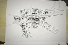 Plane Sketches, Michal Kus on ArtStation at https://www.artstation.com/artwork/Qx6JB