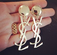 Ysl earrings.. Rreeeeally want these