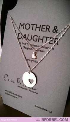 Beautiful Mother-Daughter Necklace. Real BFFs! $91