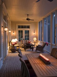 Love the lighting and the brick floor. Needs some type of textured or soft rug in the sitting area.