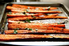 Balsamic Roasted Carrots....sounds yummy!