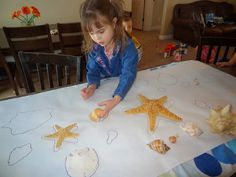 Ocean Week at Preschool A few years ago I got some shells from San Diego when we were there on Vacation. I always plan an Ocean Week because of them. I love pulling them out and the kids love looki…