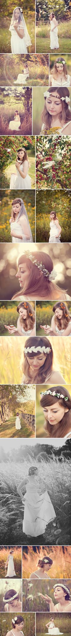 Whichgoose Autumn Lookbook.  Floral bridal crowns on Etsy. Photography by Pretty Petal Studio