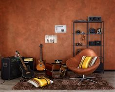 Used-Look oder cooler Industrie-Style: Was in Mode und Architektur weltweit im Trend ist, können Sie jetzt ganz einfach selbst realisieren. Egg Chair, Liquor Cabinet, Stationary, Lounge, Nice, Murals, Furniture, Rust, Color