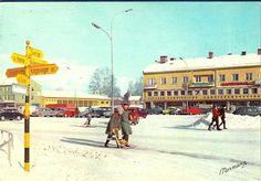 Hedmark fylke Elverum parti fra Torget Utg Normann Brukt 1966 Norway, Street View, Pictures