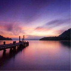 Early morning out at Lake Tarawera captured beautifully. #RotoruaNZ