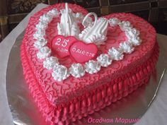 Одноклассники Heart Shaped Cakes, Heart Cakes, Cake Decorating Designs, Cake Designs, Cupcake Cookies, Cupcakes, Valentines Day Cakes, Pink Foods, Cake Pictures