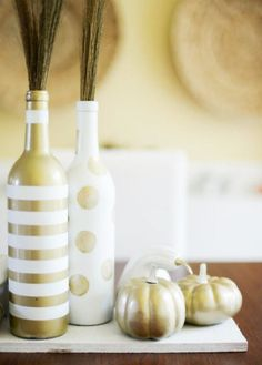 The tools for this recycled wine bottle DIY are already in your craft drawer. Empty Wine Bottles, Glass Bottles, Wine Glass, Christmas Time Is Here, Wine Bottle Crafts, Merry And Bright, Upcycle, Holiday, Cork Ideas