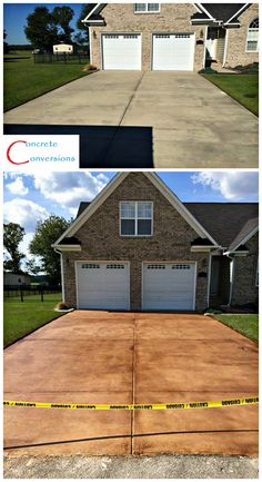 Concrete Driveway Staining - Fayetteville NC