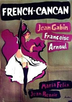 French Cancan Swedish poster by Gosta Aberg (Paris by night, S Sep 2011)