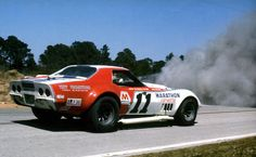 Danger ahead ! Corvette , Sebring 1971. I saw a lot of that during my days on the track!