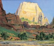 another LeConte Stewart painting, White Throne, in Zion  National Park