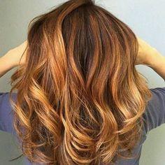 Tintes de cabello color caramelo para morenas