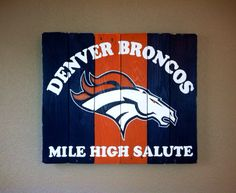Denver Broncos Mile High Salute wall art by KristaLianeDesigns, $85.00