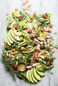 Rosemary Chicken Salad with Avocado and Bacon   Foodness Gracious   Bloglovin'