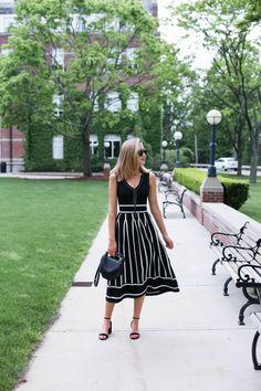 Black and White Reversible Knit Midi Dress   MEMORANDUM   Bloglovin'