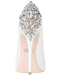 Badgley Mischka Kiara Platform Evening Pumps | macys.com | 2 of 3 views | Fashionista-Princess