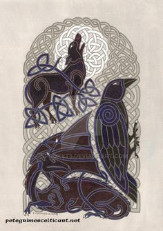 A Celtic moon and it's knightly protector. Painted in Photoshop. Expressing my Celtic heritage! Enjoy! Edit: Thank you everyone for the lovely comments and shares!