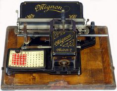 The Martin Howard Collection: Mignon 2 Wonderful Machine, Antique Typewriter, Slide Rule, Vintage Phones, Vintage Office, Vintage Typewriters, Clever Design, Writing, Computers