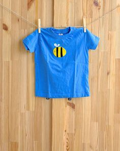 db70577f2 Bumble Bee Shirt, Busy Bee Organic Toddler Childrens T-Shirt, Felt Applique  Designs, Cute Kids Clothes, Hipster Baby Clothing